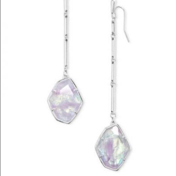 Kendra Scott Charmian Silver Drop Earrings